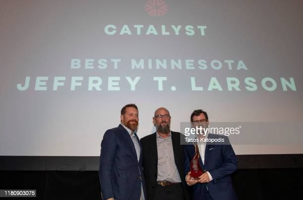 Jeffery T Larson Swins Best Minnesota at the Catalyst Content Awards Gala on October 13 2019 in Duluth Minnesota