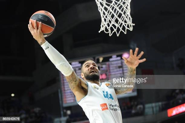 Jeffery Taylor #44 forward of Real Madrid during the 2017/2018 Turkish Airlines Euroleague Regular Season Round 3 game between Real Madrid v AX...