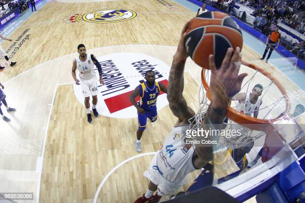 Jeffery Taylor #44 of Real Madrid in action during the 2017/2018 Turkish Airlines EuroLeague Regular Season Round 5 game between Real Madrid and...
