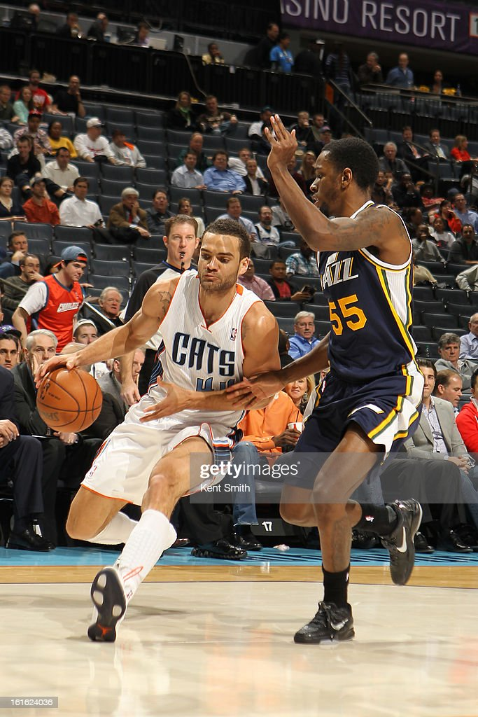 Jeffery Taylor #44 of the Charlotte Bobcats drives to the basket against the Utah Jazz at the Time Warner Cable Arena on January 9, 2013 in Charlotte, North Carolina.