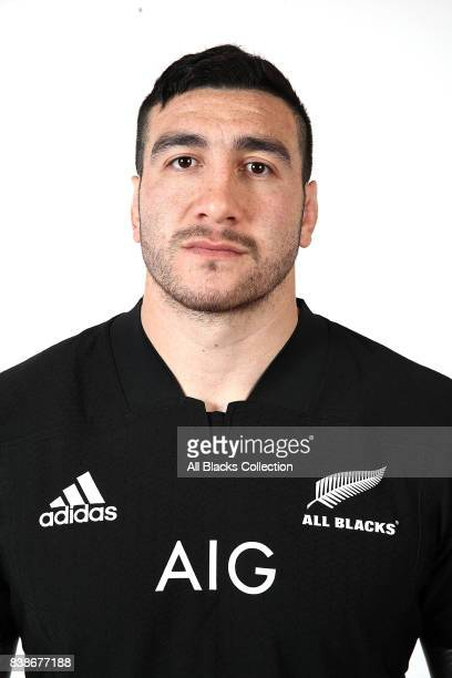 Jeffery ToomagaAllen poses during a New Zealand All Blacks headshots session at The Heritage Hotel on August 10 2017 in Auckland New Zealand