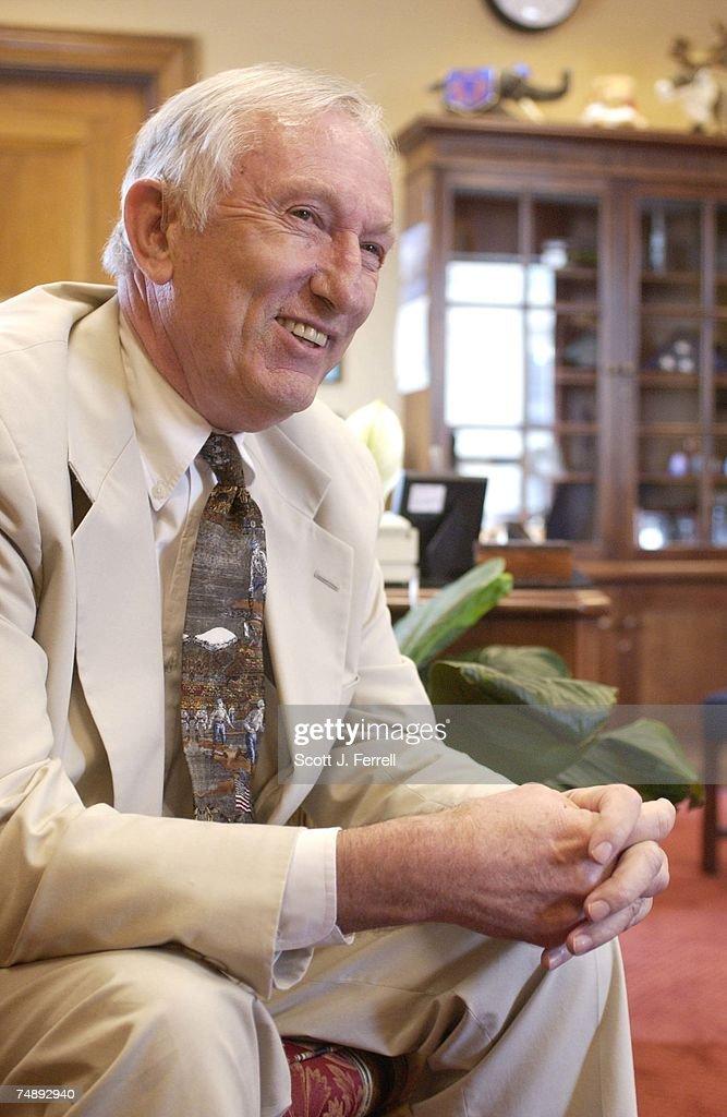 JEFFORDS--Sen. James M. Jeffords, I-Vt., during an interview in his office.