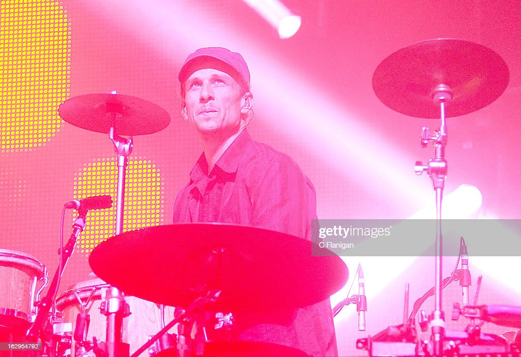 Jeffree Lerner of Sound Tribe Sector 9 (STS9) performs at The Fox Theatre on March 1, 2013 in Oakland, California.