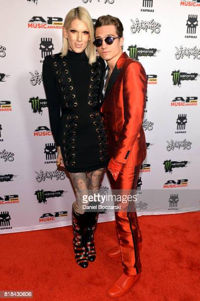 Jeffree Star and Nathan Schwandt attend the 2017 Alternative Press Music Awards at KeyBank State Theatre on July 17 2017 in Cleveland Ohio