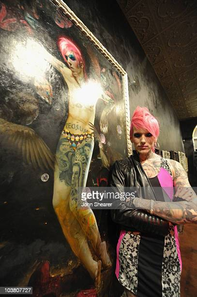 Jeffree Star attends the opening of Kat Von D's 'Wonderland' gallery on September 2 2010 in West Hollywood California