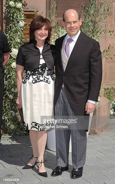 Jeffrey A Rosen and wife Margorie Rosen attend the wedding ceremony of Melissa countess FaberCastell and Charles Alexander Count FaberCastell at...
