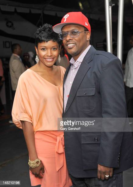 Jeffrey Allen Townes aka 'DJ Jazzy Jeff' and Lynette Jackson attend the Men In Black 3 New York Premiere after party at the USS Intrepid on May 23...