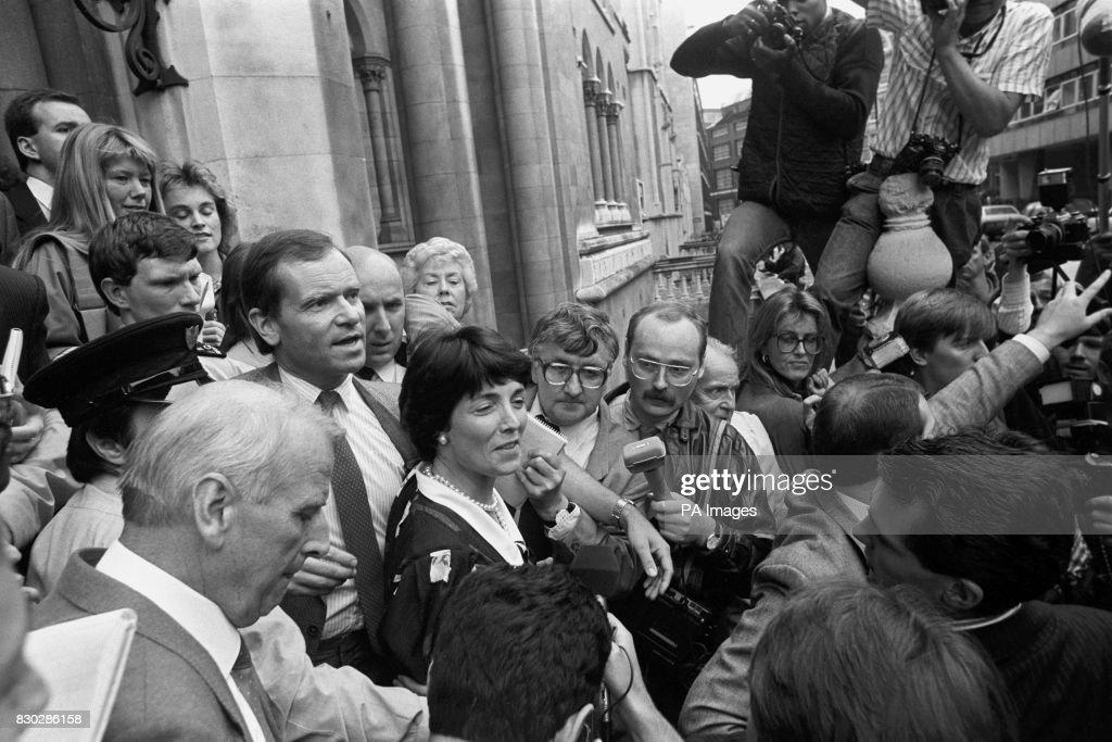 British Crime - Libel and Perjury - Lord Archer - London - 1987 : Fotografía de noticias