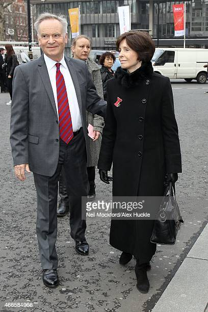 Jeffrey Archer attends a Memorial Service for Sir Richard Attenborough at Westminster Abbey on March 17 2015 in London England
