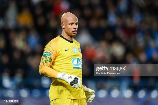 Jeffrey BALTUS of Granville during the French Cup Soccer match between US Granville and Olympique de Marseille at Stade Michel D'Ornano on January 17...