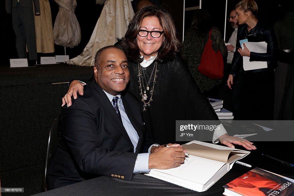 Jeffrey Banks and Fern Mallis attend 'Perry Ellis: An American Original' By Jeffrey Banks book launch hosted by the CFDA, Perry Ellis and Parsons the New School for Design on October 17, 2013 in New York City.
