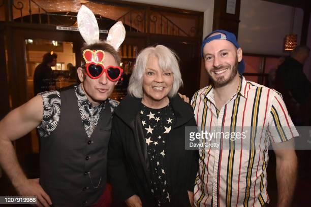 Jeffrey Berringer Cherry Vanilla and Brady Robertson attend the House Of Cardin Special Screening At Palm Springs Modernism Week at The Plaza Theater...
