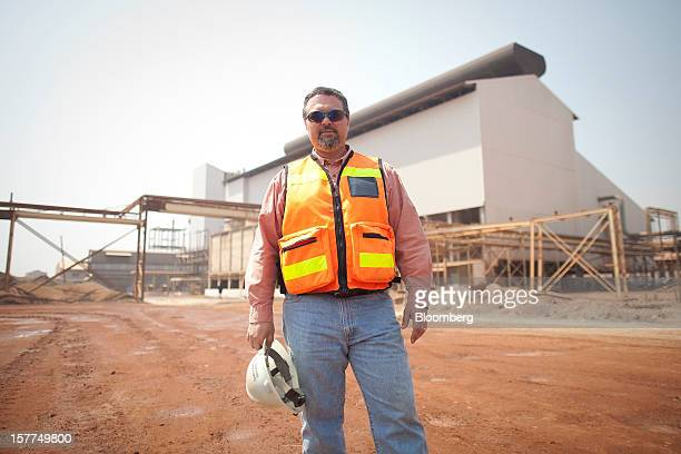 Jeffrey Best chief executive officer of Katanga Mining Ltd poses for a photograph outside the concentrator plant at Katanga Mining Ltd's copper and...