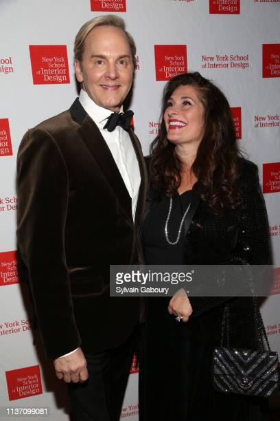 Jeffrey Bilhuber and Dolly Fox attend New York School Of Interior Design Annual Gala at The University Club on March 5 2019 in New York City