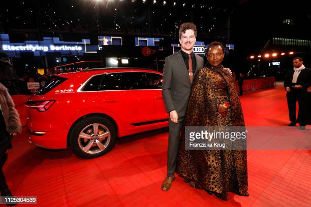 Jeffrey Bowers and Koyo Kouoh arrive in Audi etron car for the closing ceremony of the 69th Berlinale International Film Festival Berlin at Berlinale...