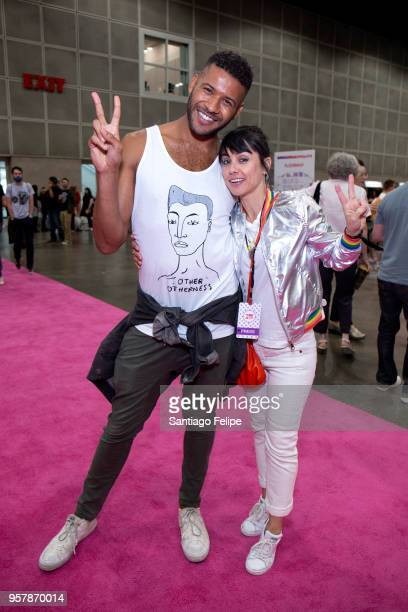 Jeffrey BowyerChapman and Constance Zimmer attend the 4th Annual RuPaul's DragCon at Los Angeles Convention Center on May 12 2018 in Los Angeles...