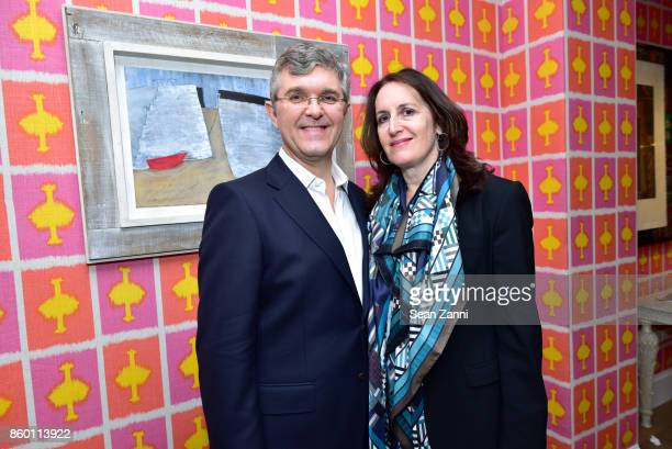 Jeffrey Bradford and Norah Lawlor attend the launch of The Collector Geneva's Sophie Bonvin Code Collection in Collaboration with artist Bill Claps...