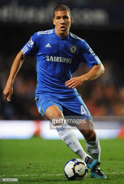 Jeffrey Bruma of Chelsea in action during the Barclays Premier League match between Chelsea and Blackburn Rovers at Stamford Bridge on October 24...