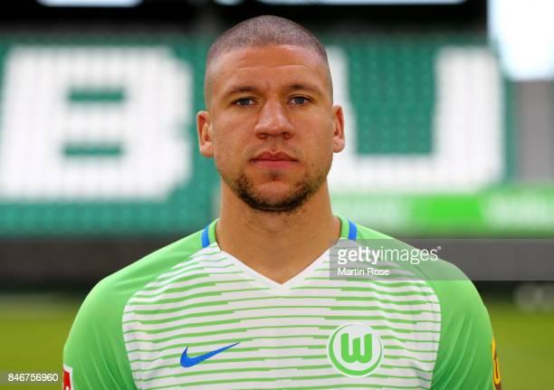 Jeffrey Bruma of VfL Wolfsburg poses during the team presentation at on September 13 2017 in Wolfsburg Germany