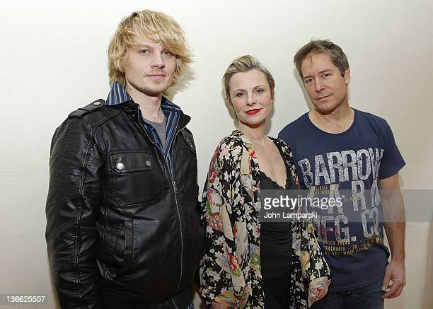 Jeffrey Carlson Angelica Page and Laurence Lau attend the 'Psycho Therapy' OffBroadway cast photo call at the Shelter Theater on January 9 2012 in...