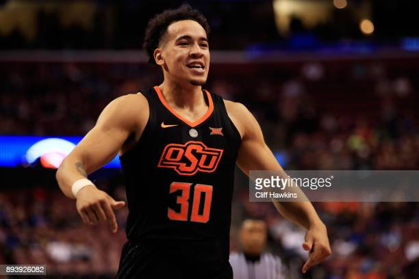 Jeffrey Carroll of the Oklahoma State Cowboys celebrates their 71 to 70 win over the Florida State Seminoles during the MetroPCS Orange Bowl...