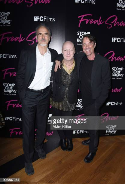 Jeffrey Coulter James St James and Bryan Rabin attend FREAK SHOW LA Special Screening on January 17 2018 in Los Angeles California