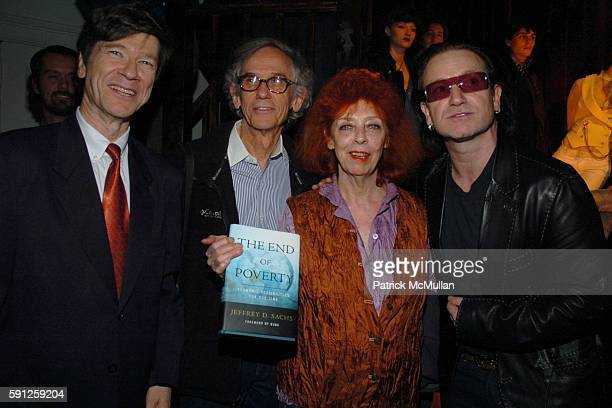 Jeffrey D Sachs Christo Jeanne Claude and Bono attend Preview of EDUN's Premier Autumn/Winter 2005 Collection Hosted by Ali Bono and Rogan at The...