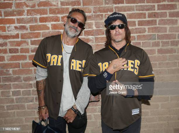 Jeffrey Dean Morgan and Norman Reedus attend The Walking Dead Walker Horde at Petco Park during Comic Con 2019 on July 20, 2019 in San Diego,...