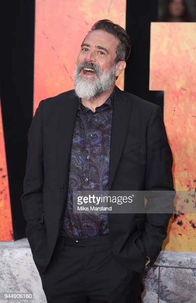 Jeffrey Dean Morgan attends the European Premiere of 'Rampage' at Cineworld Leicester Square on April 11, 2018 in London, England.