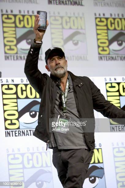 Jeffrey Dean Morgan attends 'The Walking Dead' panel with AMC during during ComicCon International 2018 at San Diego Convention Center on July 20...
