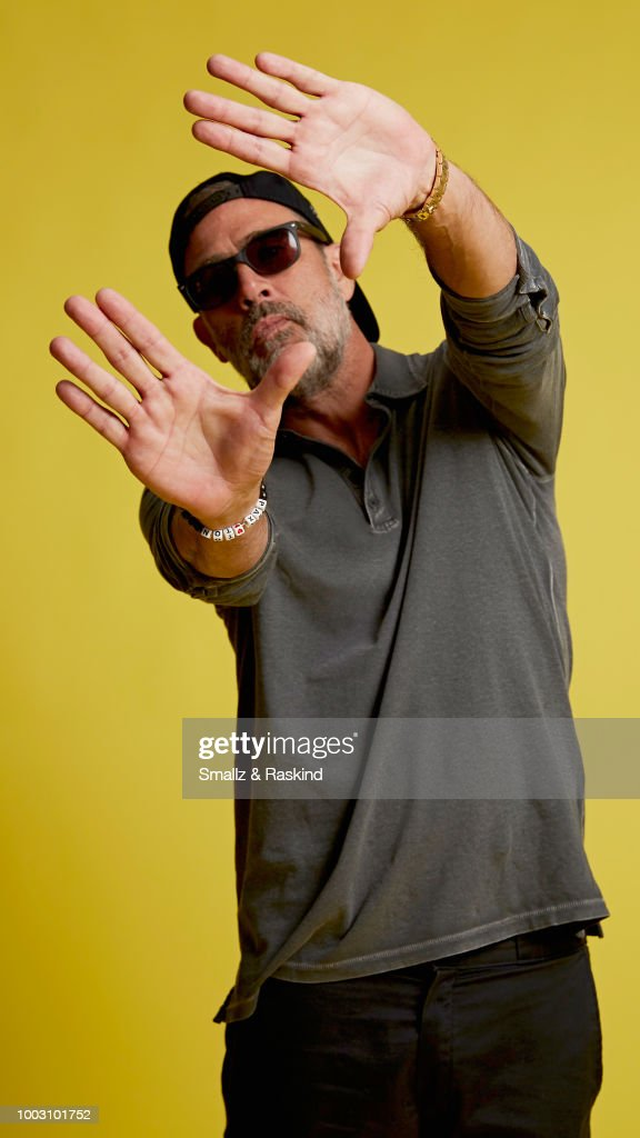 Jeffrey Dean Morgan from AMC Networks 'The Walking Dead' poses for a portrait at the Getty Images Portrait Studio powered by Pizza Hut at San Diego 2018 Comic Con at Andaz San Diego on July 20, 2018 in San Diego, California.