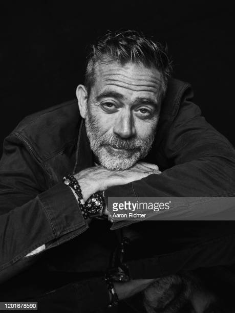 Jeffrey Dean Morgan of The Walking Dead poses for a portrait in the Pizza Hut Lounge at 2019 ComicCon International San Diego on July 20 2019 in San...