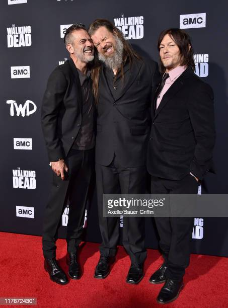 "Jeffrey Dean Morgan, Ryan Hurst and Norman Reedus attend the Special Screening of AMC's ""The Walking Dead"" Season 10 at Chinese 6 Theater– Hollywood..."