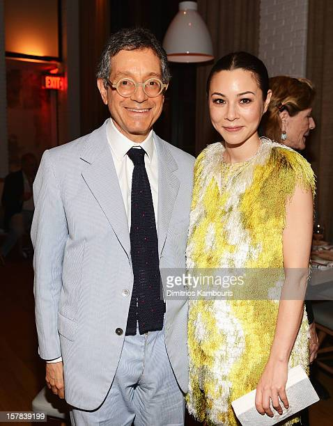 Jeffrey Deitch and actress China Chow attend the Aby Rosen Samantha Boardman dinner at The Dutch on December 6 2012 in Miami Florida