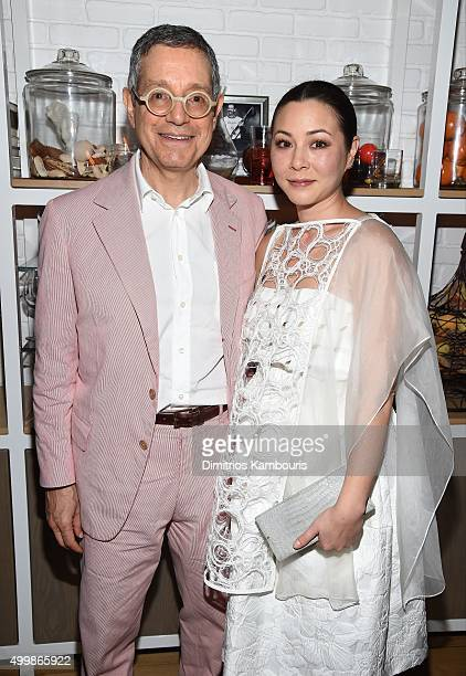 Jeffrey Deitch and China Chow attend Aby Rosen and Samantha Boardman host their Annual Dinner at The Dutch W Hotel South Beach on December 3 2015 in...