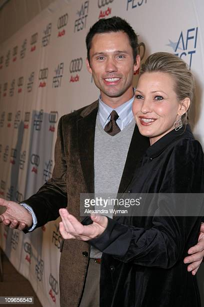 Jeffrey Donovan and Joey Lauren Adams during AFI Film Festival 'Come Early Morning' Dinner and Screening at Arclight in Hollywood California United...