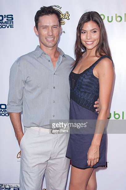 Jeffrey Donovan and Michelle Woods arrive at Zo Summer Groove Benefit Dinner and Gala at Seminole Hard Rock Hotel on July 23, 2011 in Hollywood,...
