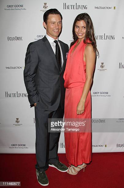 Jeffrey Donovan and Michelle Woods attend The Blacks Annual Gala at Eden Roc a Renaissance Beach Resort and Spa on April 2 2011 in Miami Beach Florida