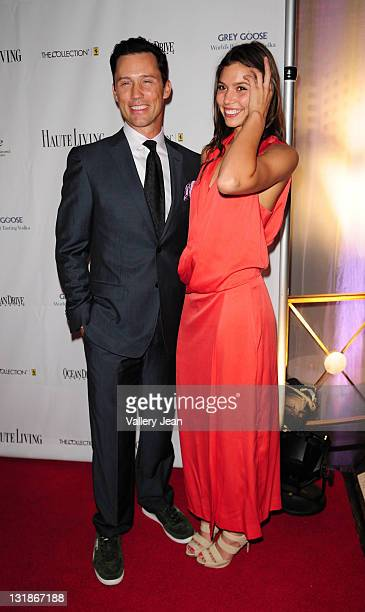 Jeffrey Donovan and Michelle Woods attend The Blacks Annual Gala at Eden Roc, a Renaissance Beach Resort and Spa on April 2, 2011 in Miami Beach,...