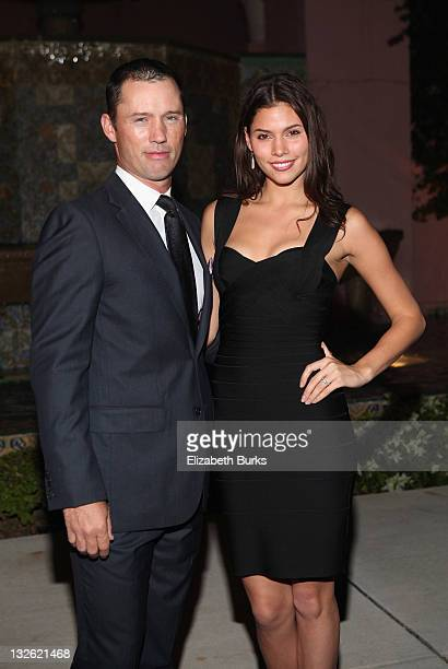 Jeffrey Donovan and Michelle Woods attend the Chris Evert/Raymond James ProCelebrity Tennis Classic Gala at Boca Raton Resort on November 12 2011 in...
