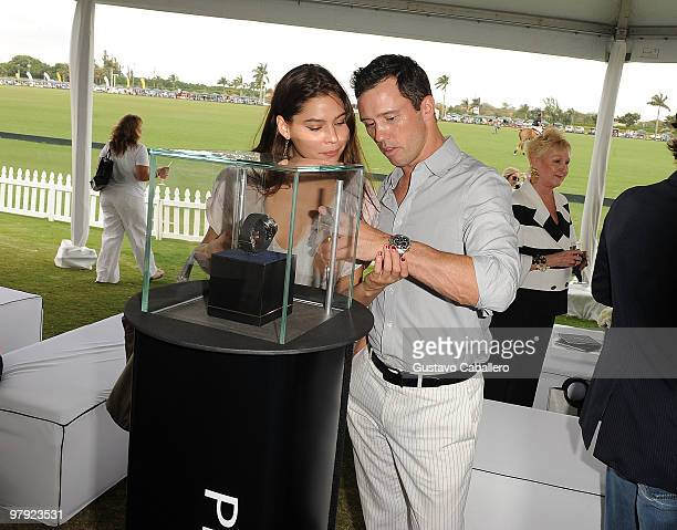 Jeffrey Donovan and Michelle Woods attend the Piaget Gold Cup at the Palm Beach International Polo Club on March 21, 2010 in Wellington, Florida.
