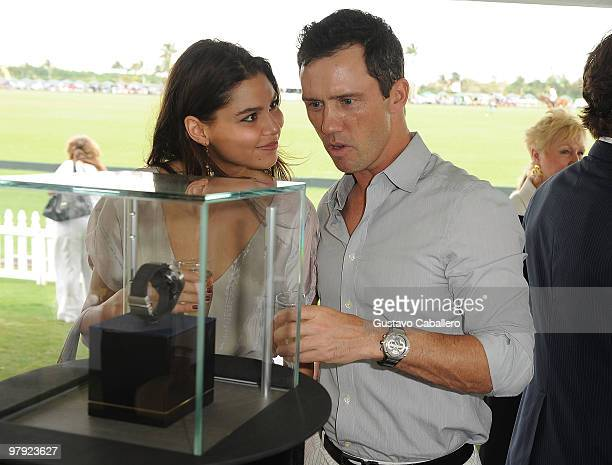 Jeffrey Donovan and Michelle Woods attend the Piaget Gold Cup at the Palm Beach International Polo Club on March 21 2010 in Wellington Florida