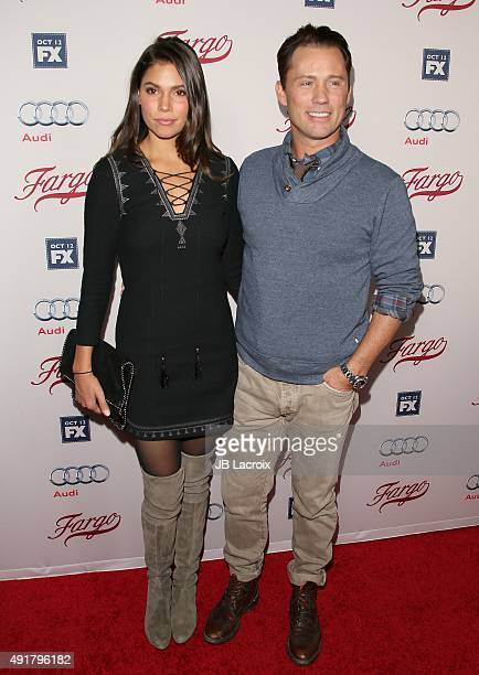 Jeffrey Donovan and Michelle Woods attend the premiere of FX's Fargo Season 2 held at ArcLight Cinemas on October 7 2015 in Hollywood California
