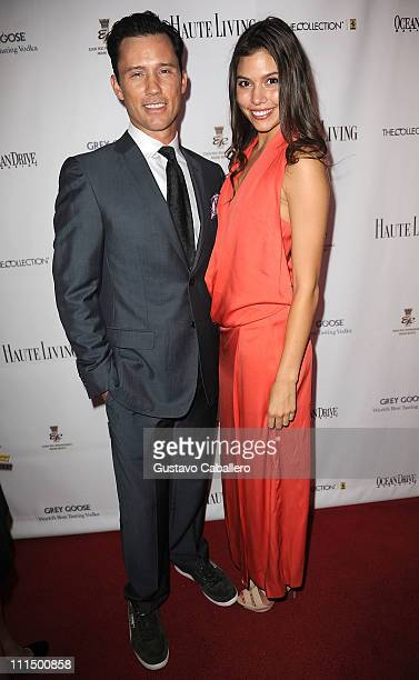 Jeffrey Donovan and Michelle Woods attends the gala to benefit atrisk youth at Eden Roc Renaissance on April 2 2011 in Miami Beach Florida