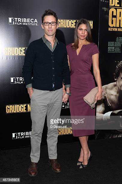 """Jeffrey Donovan and wife Michelle Woods attend the """"Grudge Match"""" screening benefiting the Tribeca Film Institute at the Ziegfeld Theater on December..."""