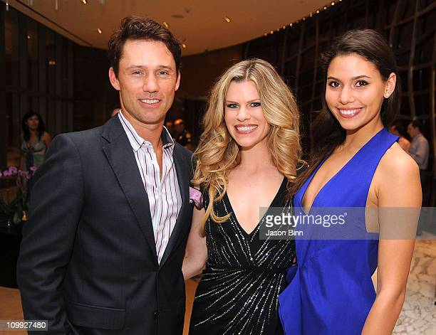 Jeffrey Donovan, Suzy Buckley and Michelle Woods attend Ocean Drive's 18th Anniversary at the JW Marriott on March 9, 2011 in Miami, Florida.