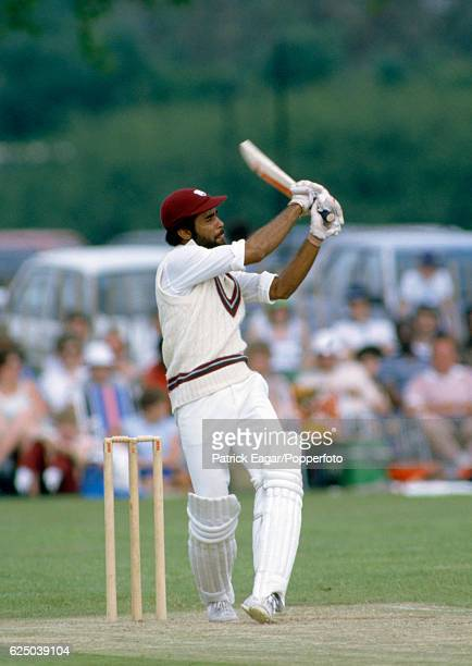 Jeffrey Dujon batting for West Indies during the tour match between Northamptonshire and the West Indians at Manor Fields Bletchley 10th June 1984