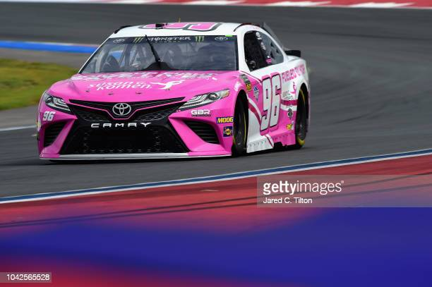Jeffrey Earnhardt driver of the iK9/Xtreme Concepts Toyota drives during practice for the Monster Energy NASCAR Cup Series Bank of America Roval 400...