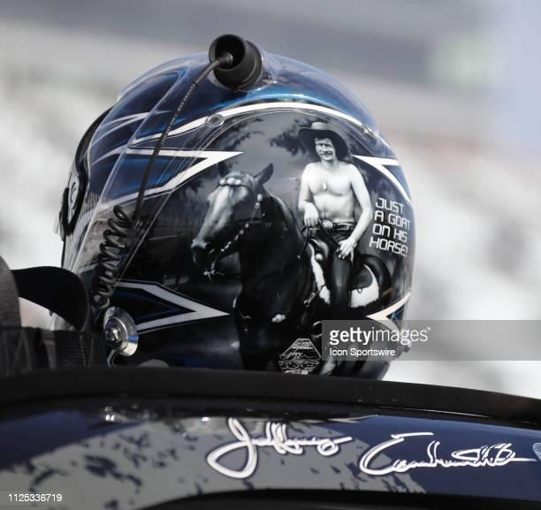 Jeffrey Earnhardt Joe Gibbs Racing Toyota Camry ik9 during qualifying for the NASCAR Racing Experience 300 on February 16 2019 at Daytona...