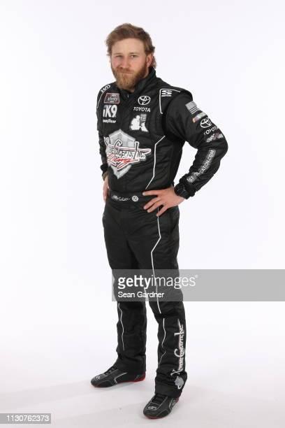 Jeffrey Earnhardt poses for a photo at Daytona International Speedway on February 15 2019 in Daytona Beach Florida